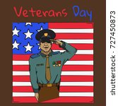 veterans day. usa army soldier... | Shutterstock .eps vector #727450873