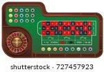casino gambling roulette table...   Shutterstock .eps vector #727457923