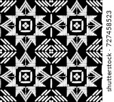 aztec embroidery pattern design ... | Shutterstock .eps vector #727458523