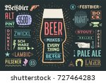 poster or banner with text beer ... | Shutterstock . vector #727464283