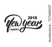 new year 2018. hand drawn logo...   Shutterstock .eps vector #727468207