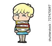 cartoon curious man   Shutterstock .eps vector #727470097