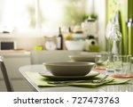 modern kitchen interior  table