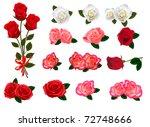 Stock vector big set of a beautiful roses vector 72748666