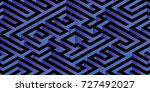 abstract minimal 3d labyrinth... | Shutterstock .eps vector #727492027