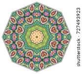 mandala flower decoration ... | Shutterstock .eps vector #727493923