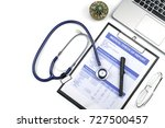 medical check up report for... | Shutterstock . vector #727500457