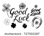 good luck. set of hand drawn... | Shutterstock .eps vector #727502287