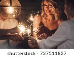 group of happy people holding... | Shutterstock . vector #727511827