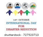 international day for disaster... | Shutterstock .eps vector #727523713