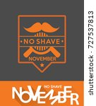 no shave november label 6 | Shutterstock .eps vector #727537813