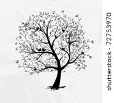 art tree beautiful  black... | Shutterstock .eps vector #72753970