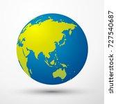 world globe asia  australia ...   Shutterstock .eps vector #727540687