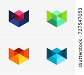 modern abstract design vector... | Shutterstock .eps vector #727547053