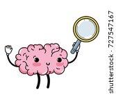 kawaii happy brain with... | Shutterstock .eps vector #727547167