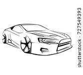 sport car. modern car on a... | Shutterstock .eps vector #727549393