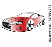 sport car. modern car on a... | Shutterstock .eps vector #727551973