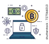 finance with bitcoin icons | Shutterstock .eps vector #727566013