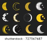 different moon nature cosmos... | Shutterstock .eps vector #727567687