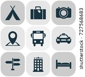 exploration icons set.... | Shutterstock .eps vector #727568683
