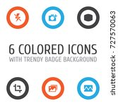 image icons set. collection of... | Shutterstock .eps vector #727570063