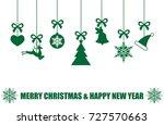 various hanging christmas...   Shutterstock .eps vector #727570663