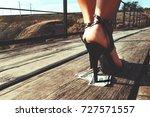 beautiful girl in expensive... | Shutterstock . vector #727571557