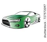 sport car. modern car on a... | Shutterstock .eps vector #727572097