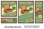 the poster in vintage style on... | Shutterstock .eps vector #727572937