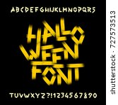 halloween alphabet font. dirty... | Shutterstock .eps vector #727573513
