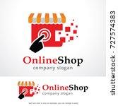 online shop logo template... | Shutterstock .eps vector #727574383