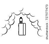 vaporizer electric cigarette...   Shutterstock .eps vector #727577473