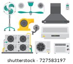 air conditioner airlock systems ...   Shutterstock .eps vector #727583197