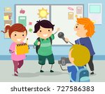illustration of stickman kids... | Shutterstock .eps vector #727586383