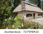 traditional ukrainian house... | Shutterstock . vector #727598923