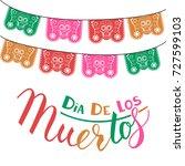 dia de los muertos  mexican day ... | Shutterstock .eps vector #727599103