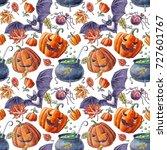 watercolor hand drawn pattern ... | Shutterstock . vector #727601767