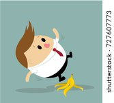 vector of businessman slipping... | Shutterstock .eps vector #727607773