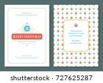 christmas greeting card design... | Shutterstock .eps vector #727625287