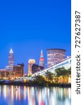 cleveland skyline with... | Shutterstock . vector #727627387