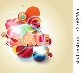 beautiful sale background eps10 ... | Shutterstock .eps vector #72763465