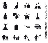 16 vector icon set   cleanser ... | Shutterstock .eps vector #727643647