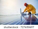technician checks the...   Shutterstock . vector #727650697