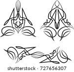 pinstripe design vinyl ready...   Shutterstock .eps vector #727656307