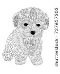 hand drawn dog. sketch for anti ... | Shutterstock .eps vector #727657303