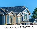 a perfect neighborhood. houses... | Shutterstock . vector #727657513