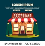 restaurant or cafe. exterior... | Shutterstock . vector #727663507