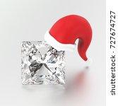 3d illustration diamond stone...   Shutterstock . vector #727674727