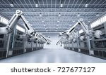 3d rendering robotic machines... | Shutterstock . vector #727677127