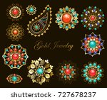 set of jewelry ethnic brooches...